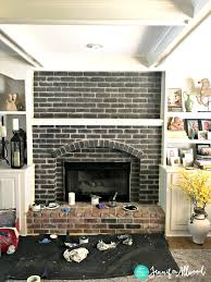 black painted brick fireplace jennifer allwood