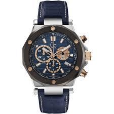 guess collection gc 3 x72025g7s gents blue calfskin stainless watch guess collection gc 3 x72025g7s stainless steel case blue calfskin anti reflective sapphire men s