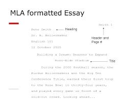 Proper Mla Format Heading Mla Format Essay Cite Written In Formatting Paper Writing Sample
