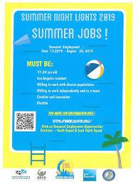 Apply For Summer Night Lights Jobs Nhnenc