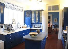 Wood Kitchen Cabinets Blue White Color Combination