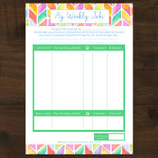 New 6pk Chores Responsibilities By Age Group Pocket Money Printable Instant Download