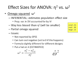 effect size anova effect size tutorial cohens d and omega squared ppt video online