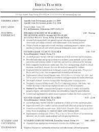 Example Resumes For Teachers Example Resumes For Teachers Sample Resume Of A Teacher Resume