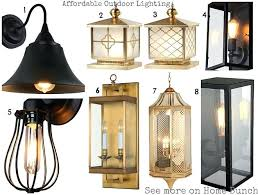 brass outdoor light fixtures affordable outdoor lighting 1 vintage style bell shape shade wall sconce