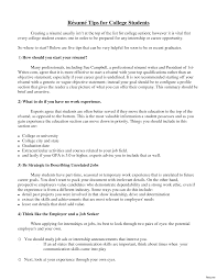 Sample College Freshman Resume College Student Resume Samples For Recent Graduate Cover Letters 36