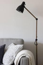 ikea lighting hack. West Elm Inspired Industrial Floor Lamp - IKEA Hack Ikea Lighting