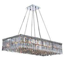 cascade collection 16 light polished chrome crystal rectangle chandelier