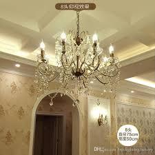 american country mediterranean crystal chandelier pendant lamps european living room diningroom bedroom chandelier cafe retro crystal lamps pendant light