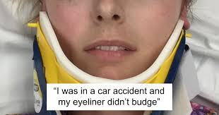 woman s review of eyeliner that stays intact through harrowing car accident goes viral and it s hilarious