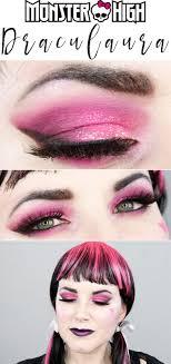 monster high draculaura makeup tutorial hot pink and black makeup tutorial with kat von d