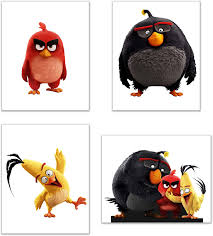 Summit Designs Angry Birds Wall Art Decor - Set of 4 Prints (8 x 10) -  Poster Photos - Red, Chuck, Bomb: Amazon.de: Küche & Haushalt