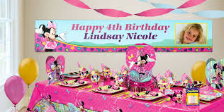 custom happy birthday banner custom minnie mouse birthday banners party city