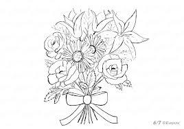 Bouquet Kleurplaat Kostenlose Malvorlage Muttertag Mama In Der