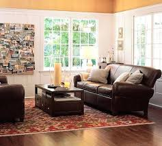 pottery barn leather couch small leather sofa pottery barn living rooms with leather sofa pottery barn