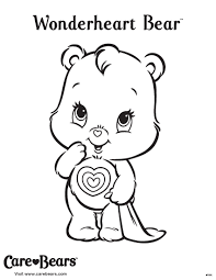 Wonderheart Bear Coloring Sheet From Agkidzone