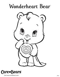 Wonderheart Bear Coloring Sheet From Agkidzone