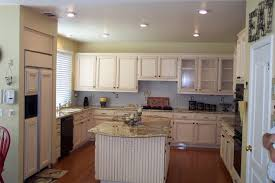 image of painting oak cabinets white diy