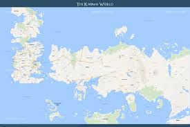 google map style game of thrones westeros  essos  brilliant maps