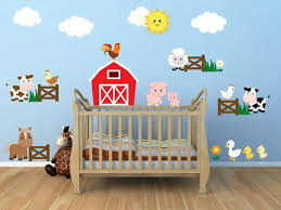 kids room wall decals farm wall decals