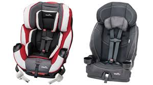 evenflo recalling child car and booster seats