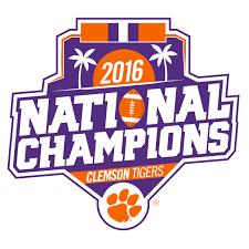 Clemson national championship Logos