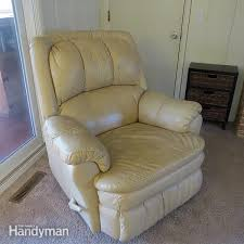 how to clean leather furniture stains