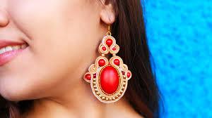 Diy - Soutache Ethnic Earrings Youtube