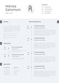 Cv Template Professional Resume Template With Photo Word Instant