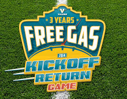 Learn more about fuel and gift cards. The Valero Free Gas 2014 Kickoff Return Game Familysavings
