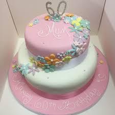 2 Tier 60th Birthday Cake M Rays Bakery