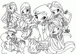 Winx Club Cartoons Coloring Home