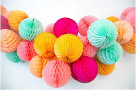 Party Decorations Tissue Paper Balls 100cm100 Hand made tissue paper honeycomb balls for wedding party 56