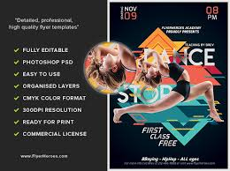 free dance flyer templates free dance class flyer template