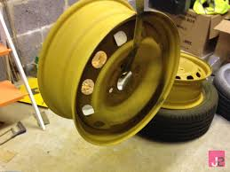 filler primer applied to steel wheel