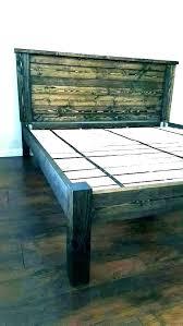 high platform bed