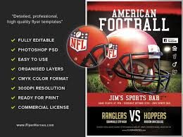American Football Flyer Template - Flyerheroes