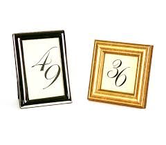 table numbers stands gold and silver number frames
