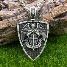 archangel saint st michael medal shield