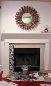 installing pebble tile in your builder basic fireplace surround
