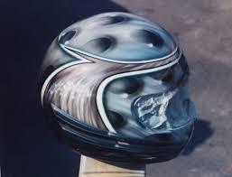 custom airbrush helmet painting