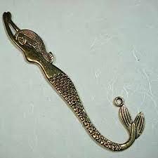 49 12 2cm mermaid tibetan style gold bookmark