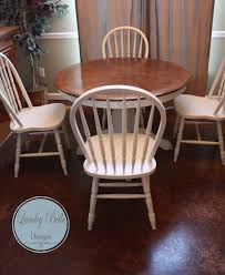 Painted Round Kitchen Table Lumley Belle Designs Refinished Painted Round Pedestal Table With