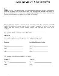 Kick-Ass Agreement Sample Between Employer And Employee Employment ...