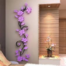 mirror wall decor flower beautiful mirror wall decals stickers