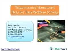 Trigonometry Homework Help   Free Online
