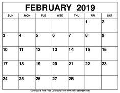 2019 Calendar Printable By Month 81 Best Blank February 2019 Calendar Template Images In 2019