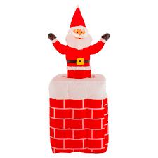 Light Up Pop Up Santa Details About Christmas Masters 5ft Inflatable Chimney Santa Claus Pop Up Led Yard Decoration