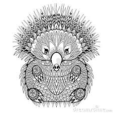 Small Picture Echidna Animal Coloring Pages Zentangle Stylized Echidna With