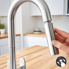 Touch kitchen faucets Sensate Touchless Beale Measurefill Touch Kitchen Faucet The Home Depot American Standard Beale Measurefill Touch Singlehandle Pulldown
